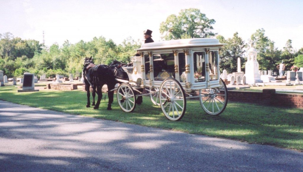 1800 Horse Drawn Hearse Wooden