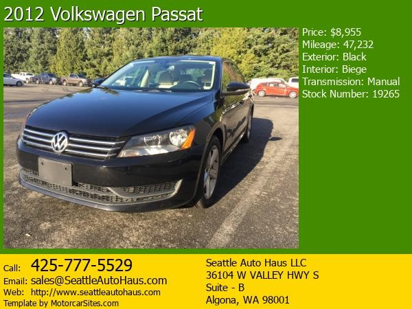 2012 Volkswagen Passat Manual